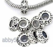 10pcs Silver Tone European Stopper Rubber Beads For Charm Bracelet T25