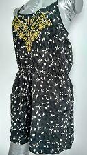 Designer ECOTE playsuit romper size S --BRAND NEW-- embroidered grey pockets