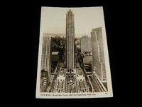 Vintage Postcard,NEW YORK CITY, NY,RPPC, RCA Building & Rockefeller Center,To MA
