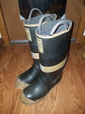 Vintage Ranger Fire Master Firefighter Fireman Boots, Size 8