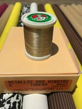 Gudebrod  Metallic Fishing Rod Winding thread  Size A, Color Pale Gold  9007.