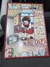 Mary Engelbreit Handmade Print The Love Of Learning 14�x19� Framed