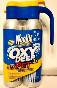 NIP NEW  2 Cans Woolite Oxy Deep Pet 2X Cleaner Oxygen Activated - Discontinued