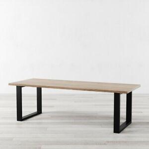 Holborn Industrial Style Dining Table U shaped Legs Retro Farmhouse