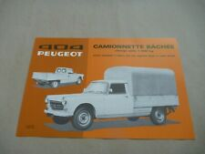 1973 PEUGEOT 404 CAMIONNETTE Catalogue Brochure Prospekt Dépliant French