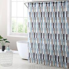 Mainstays Martel Geometric  Fabric Shower Curtain  & Hooks 13-Piece Bath Set