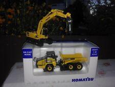 Komatsu Modelle Maßstab 1:50 Dumper HM 250 u.Bagger PC 210 LC mit Hammer neu