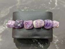 Beautiful Natural Amethyst Jewellery Beaded Stretch Bracelet