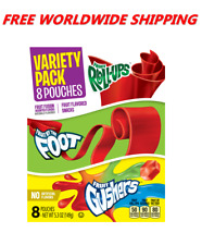 Betty Crocker Variety Pack Fruit Roll-Ups By The Foot & Gushers FREE WORLD SHIP