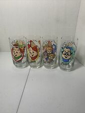 Complete Set of 4 Alvin and the Chipmunks glasses (1985, Hardee's)