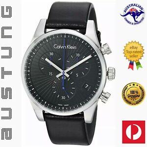 Calvin Klein Steadfast Men's Chronograph Quartz Black Dial Watch K8S271C1