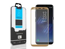 Curved Gold FULL COVER Tempered Glass Screen Protector Samsung Galaxy S8 Plus