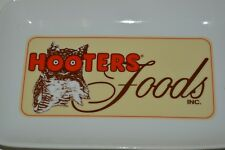 Nice Vintage HOOTERS Restaurant OWL Solid Ceramic Tip Tray Wings Plate Rare