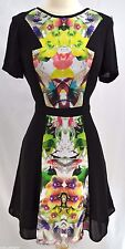 Prabal Gurung For Target Floral S/S fit flare Lined First Date Mirror Dress SZ 6