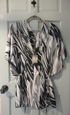 NEW BNWT RRP:£79.00 PLANET UK8 GREY, BLACK & SILVER MARBLE BLOUSE TOP DESIGNER