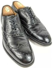 Edward Green 202 Last Oxford Wing Tip | Men's 11 B | Black Leather Dress Shoes