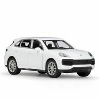 Porsche Cayenne Turbo SUV 1:36 Model Car Diecast Toy Vehicle Pull Back Kid White