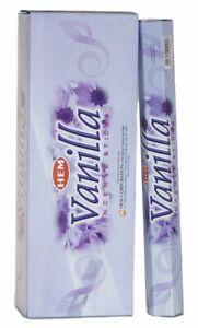 Vanilla Hem Incense Sticks Home Fragrance 120 Joss Sticks [6 Packs X 20 Sticks]
