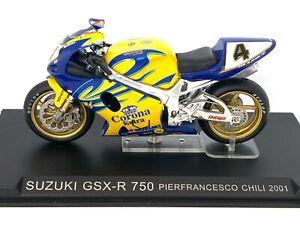 1:24 scale Altaya De Agostini Suzuki GSX-R 750 Superbike Model - P Chili 2001