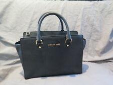 Michael Kors Black Leather Handbag Bag Purse