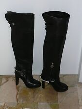 ALBERTO GUARDIANI ALL LEATHER OVER KNEE BOOTS SHOES size 37 made Italy Mint 557da3d832d