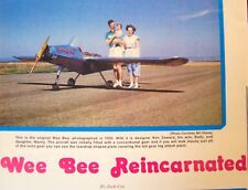WEE BEE PLANS + CONSTRUCTION ARTICLE for TWO UCs of World's Smallest Airplane