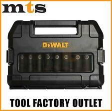 DEWALT DW22812 10 PIECE 1/2 INCH DRIVE DEEP IMPACT READY SOCKET SET - IMPERIAL