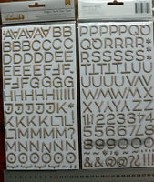WOOD PRINTED Thin Chipboard - 192 ALPHABET & NUMBERS - 22mm high & 3-30mmWide L4