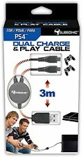 DUAL CHARGE & PLAY CÂBLE Pour 2 Manette PS4™ -  Neuf en Stock