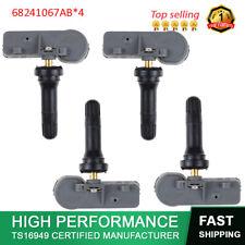 4PCS New Tire Pressure Sensor TPMS 68241067AB for Chrysler Dodge RAM 1500 250