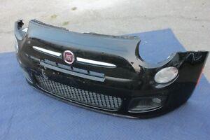 12-17 FIAT 500 FRONT BUMPER COVER GRILL SIGNAL FOG TRIM GENUINE OEM BLACK