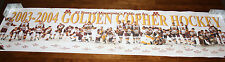 2003 2004 Minnesota Gophers Hockey Roster 47x11 Poster