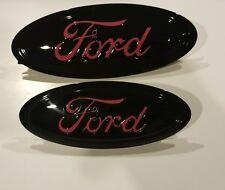 2017 ford escape custom painted black pink logo emblem set