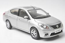 Nissan Sunny car model in scale 1:18 silver