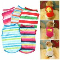 Pet Dog Cat Summer Cotton Striped Vest T-Shirt Puppy Tops Tee Apparel Clothes
