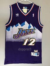 3542762f3a7 NWT John Stockton  12 NBA Utah Jazz Swingman Throwback Jersey Purple Man