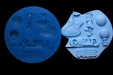 Sugarcraft Silicone Molds Sugarpaste Fondant Mould Cake Decoration Clay Golf Set