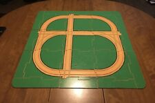 Vintage Whittle Chips Wood Train Town Wood Playset Track Ground Tiles
