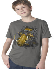 Boys Graphic Tees Boar Wild Pig Tearing Through Kids Youth Tee Shirts Gifts