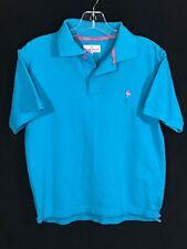Le Coq Sportif Vintage 3 Button Knit Cotton Turquoise Polo Casual Shirt Boys L B