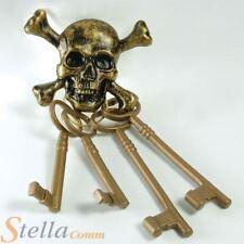 Skeleton Pirate Keys Fancy Dress Costume Sailor Ghost Skull Halloween Accessory