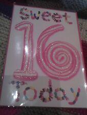 Age 16 sixteen Happy Birthday greetings card - girl