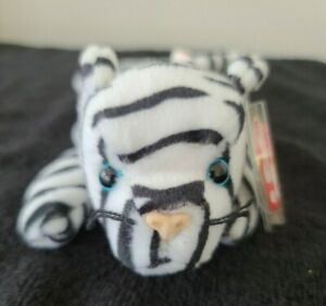 NWT Ty Beanie Babies BLIZZARD the Tiger Retired 1996 Stuffed Plush Toy MINT Cat