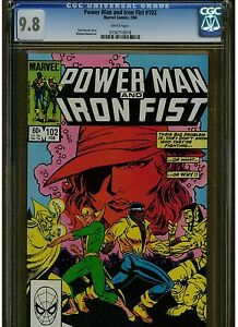 POWER MAN AND IRON FIST #102 CGC WHITE PAGES 1984 MARVEL COMICS BLUE LABEL HOT