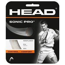 COVER HEAD SONIC PRO Tennis Stringa 1.25mm 17 Gauge BIANCO (una serie di stringa)