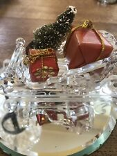 More details for rare retired swarovski crystal sleigh 205165 preowned mint. unboxed.