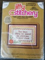 Jiffy Stitchery Time With Our Children Crewel Embroidery Kit #632 Sunset Designs