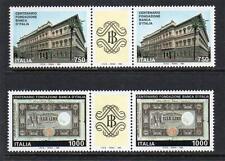 ITALIA Gomma integra, non linguellato 1993 sg2227-2228 CENTENARIO DELLA BANCA D'ITALIA coppia di grondaia