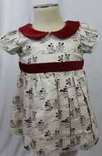 DISNEY STORE collectible baby girl 0-3 months MICKEY & MINNIE SNOW DAY DRESS