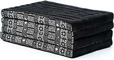 Leewadee Foldable Thai Mattress Cushion,79x33x3 Yoga Mat Kapok100%